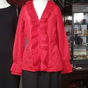 Red Oscar de la Renta Top size 6